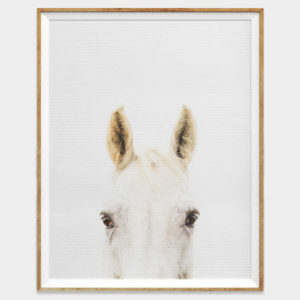 White Horse Digital Download Wall Art for Home and Nursery by The Ark